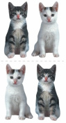 Paper House Productions Photo Real Stickypix Stickers, 5.1cm by 10cm , Kittens