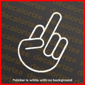 The Shocker Middle Finger Vinyl Sticker Decal for Car & Truck Windows JDM