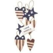 Patriotic Hearts Banner Dimensional Embellishments for Scrapbooking
