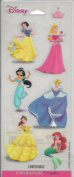 Disney Princess Glitter Accent Scrapbook Stickers