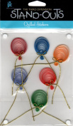 Balloons Stand-Outs Quilled Scrapbook Stickers
