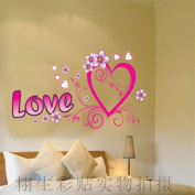 DIY Romantic Love You Wall Sticker Decals LW1063
