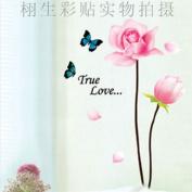 DIY Flower Butterfly Wall Sticker Decals LW972