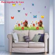 DIY Flower Butterfly Windmill Grass Wall Sticker Decals LW1055