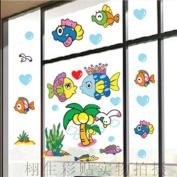 DIY Fish Sea Bird Love Kiss Wall Sticker Decals LW987