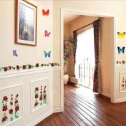 DIY Flower Rose Butterfly Wall Sticker Decals LW1050