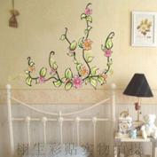 DIY Flower Vine Rattan Cane Wall Sticker Decals LW1020