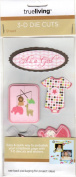 Baby Girl Dimensional Scrapbook 3-D Die Cuts