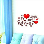 DIY Romantic I Love You Wall Sticker Decals LW1090