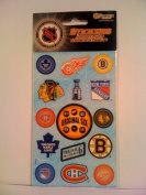 NHL Hockey Original Six Scrapbook Stickers