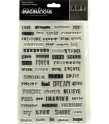 Creative Imaginations Danelle Johnson Self-Adhesive Embellishments, 14cm by 22cm Sheet, Wordz