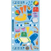 Stickopotamus Binder Stickers - Pool