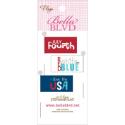 All American Stick Pin Paper Flags 3/Pkg-Words