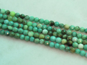 """Green Chrysoprase Beads Gemstone 4mm Facted Round 15.5"""" Strand Finding Charms Jewellery Making & design Beading"""