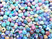 100 Fimo Polymer Clay Round Beads Size 10mm Assorted Colours