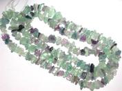1 Strand Fluorite Gemstone Chip Loose Beads 90cm