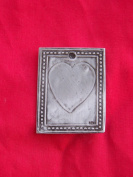Tin/Silver Heart Plaque Love Milagro Ex Voto