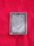 Tin/Silver Heart Plaque Love Milagro Ex Voto