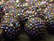 Purple Disco Ball Beads Large Craft Bracelet Necklace Jewellery Rave Kandi Beads