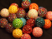 Disco Ball Beads (medium) - assorted lot of 10