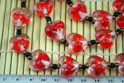 Valentine Clear Pink Heart(With Double Hearts) Lampwork Glass Beads