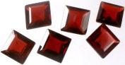Garnet mm Size Squares (Price Per Pair) -