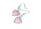Viva Beads Coral Reef Earrings  Heart Pendant   - Handmade Clay Beads Jewellery 05905525