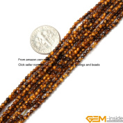 GEM-inside 2mm round tiger eye seed beads strand 15""