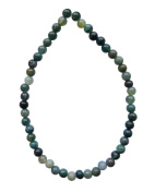 TENNESSEE CRAFTS 1257 4mm Semi Precious Moss Agate Round Beads, Green