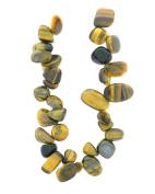 Tennessee Crafts 1437 20cm Semi Precious Yellow Tiger eye Fancy Bead