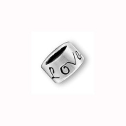 Charm Factory Pewter Love Bead