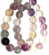 Bead Collection 40519 Semi Precious Purple Fluorite Beads, 18cm