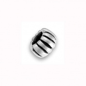 Charm Factory Pewter Ribbed Bead