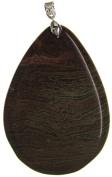 Bead Collection 41335 Semi Precious Five Colour Agate Pendant, 65 by 45mm