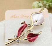 Crystal Lovely Bling Champagne Flower Brooch Pin