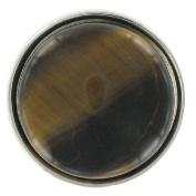 Eligo Jewellery 30mm Silver Plated Black and Light Brown Cateye Chunks for Eligo 30mm Chunk Bracelets