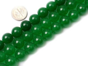 "12mm Round Green Jade Beads Strand 15"" Jewellery Making Beads"