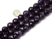 Different Sizes Round Faceted Purple amethyst Beads Strand 38cm Jewellery Making Beads
