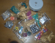 Colourful Jewellery Making Bead Lot Kit Loose Assortment