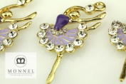 H482 Wholesale 3pcs Cute Purple Style Ballet Dancer Ballerina Charm Pendant