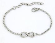 Fashion Antique Silver Vintage 8 Letter Infinity Pendant Bracelet Jewellery Unique,101100