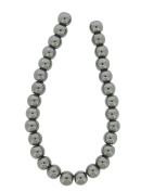 Tennessee Crafts 1156 Semi Precious Gunmetal Hematite Beads, Round, 8mm