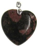 Bead Collection 41347 Semi Precious Unakite Heart Pendant