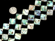 Differnet Sizes Square Natural Abalone Shell Beads Strand 38cm Jewellery Making Beads