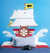 Wallies Wall Decals, Pirate Ship Headboard Wall Mural, 130cm x 120cm