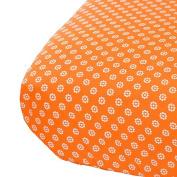 Oliver B City of Dreams Crib Sheet - Orange/Grey/White