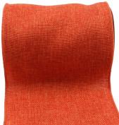 Kel-Toy RDJB106-21 Sparkle Faux Burlap Ribbon, 15cm by 10-Yard, Orange