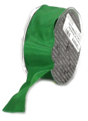 Ampelco Ribbon Company French Wired 27-Yard Taffeta Ribbon, 3.8cm , Emerald Green
