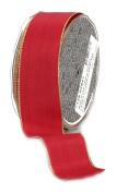 Ampelco Ribbon Company Gold Wired 27-Yard Taffeta Ribbon, 3.8cm , Scarlet Red