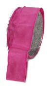 Ampelco Ribbon Company French Wired 27-Yard Taffeta Ribbon, 3.8cm , Pink